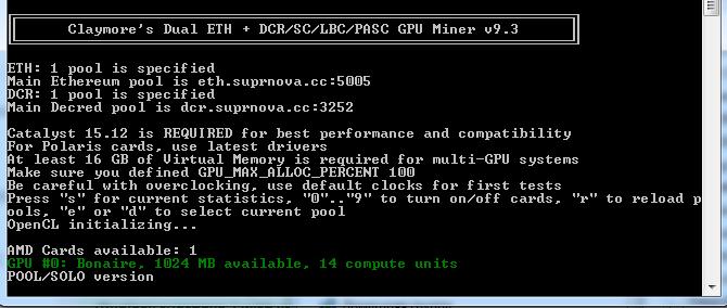 Майнинг эфириума на процессоре